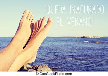 texto, queda, inaugurado, el, verano, el, verano, es, inaugurated, en, español