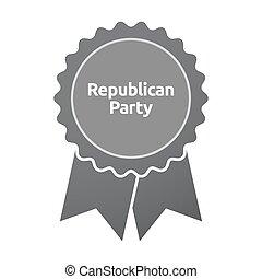 texto, republicano, emblema, isolado, partido