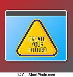 texto, señal, actuación, crear, su, future., conceptual, foto, objetivos de carrera, blancos, mejora, conjunto, planes, learning.