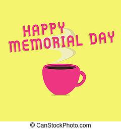texto, señal, actuación, feliz, monumento conmemorativo, day., conceptual, foto, honrar, recordar, ésos, quién, muerto, en, militar, servicio