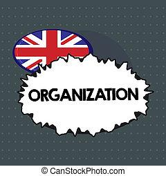 texto, señal, actuación, organization., conceptual, foto, grupo organizado, de, actuación, con, un, particular, propósito, empresa / negocio