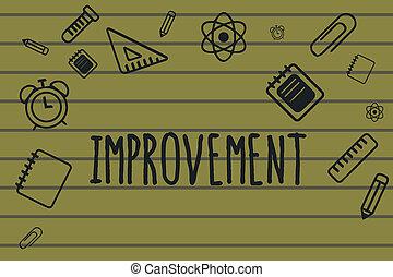 texto, sinal, mostrando, improvement., conceitual, foto, fazer, coisas, melhor, crescer, especiais, mudanças, inovação, progresso
