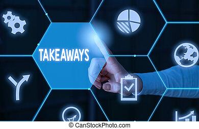 texto, takeaways., ou, usando, desgaste, conceito,...