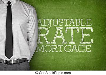 texto, taxa, Ajustável, hipoteca, quadro-negro