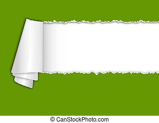 texto, torn-paper, espaço