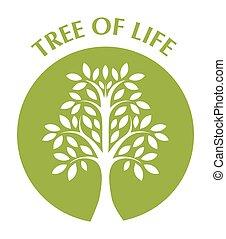 texto, vida, árbol