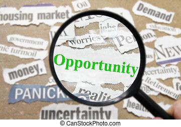 texto, vidrio, noticias, titulares, oportunidad, Aumentar