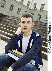 textos, campus, estudante