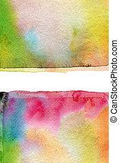 textur, pintado, abstratos, aquarela, experiência., papel, acrílico