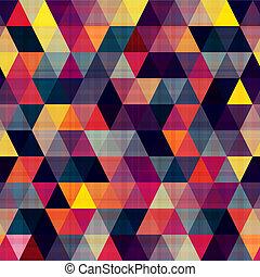 textur, trójkąt, seamless, tło