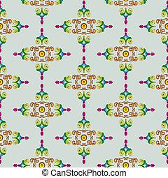 Textur_Historismus_multicolored - multicolored Texture...