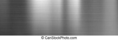 textura, aço, metal escovado, gradiente
