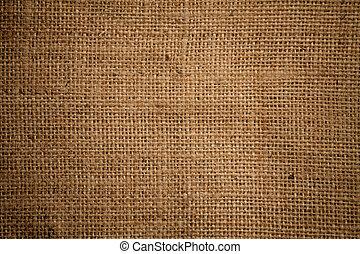 textura, calidad, arpillera, alto, o, ensacar, arpillera