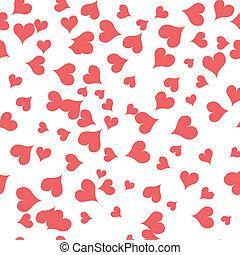 textura, com, cor-de-rosa, corações