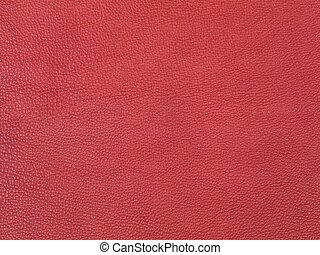 textura, couro, experiência vermelha