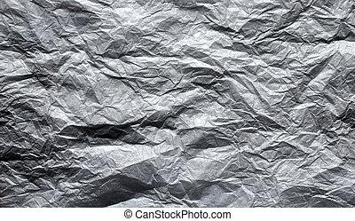 textura, de, papel arrugado