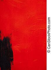 textura, estructura, negro, pintura, rojo, pared pintada, plano de fondo