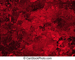 textura, gesso, antigas, parede, vermelho