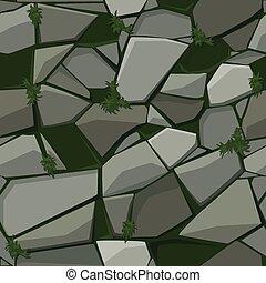 textura, grass., pedra pavimentando