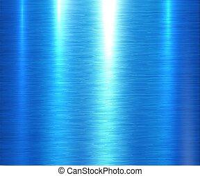 textura, metal, experiência azul