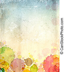 textura, papel, antigas, pintura, manchas