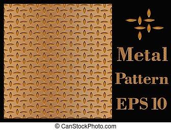 textura, patrón, de, metal