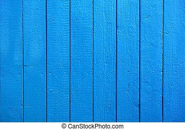 textura pintada azul, pranchas, madeira, fundo, ou