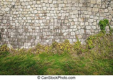 textura, plano de fondo, pared de piedra