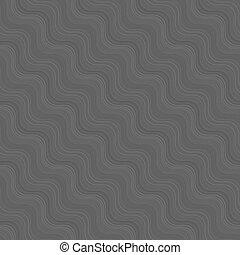 textura, repetindo, diagonal, cinzento, linhas, ondulado, muitos, ornamento