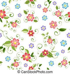 textura, seamless, flores