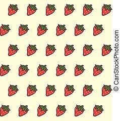 textura, seamless, strawberries.