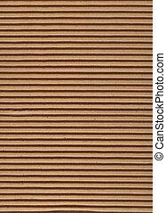 textura, serie, -, cartón corrugado
