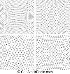 texturas, 3d, set., rede