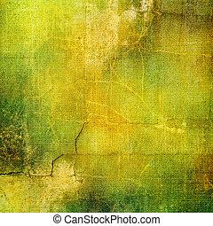 texturas, adicionado, digitalmente, vindima, quadro, fundo, projetado, computador