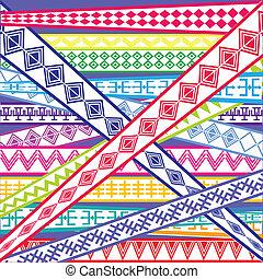 texturas, resumen, coloreado, ilustración, étnico