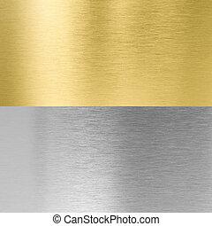 texturas, stitched, metal, prata, ouro