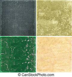 texturas, vindima, papel, fundo, cobrança