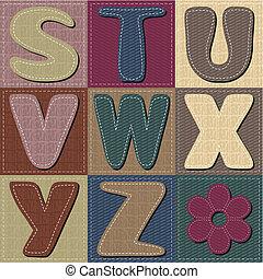 texture alphabet scrapbook