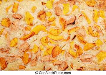 Texture Apple pie closeup for background