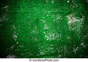 Texture background of green rough wall