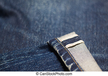 Texture background of jeans soft blur