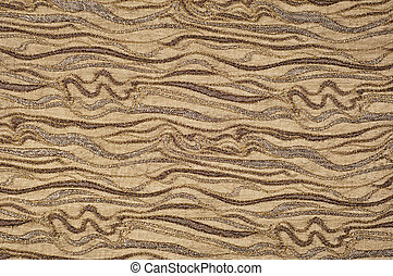 texture, background, yellow fabric brown and beige color with an abstract pattern of lines