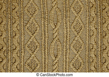 patterned knitted fabric