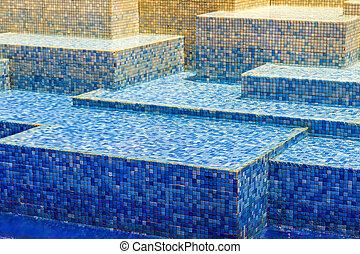 Texture blue blur ceramic mosaic