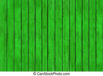 texture, bois, arrière-plan vert, conception, panneaux