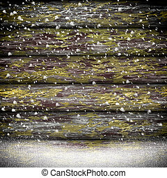 texture bois, neige, fond