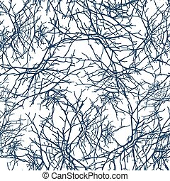 Texture branches seamless pattern - Openwork texture...