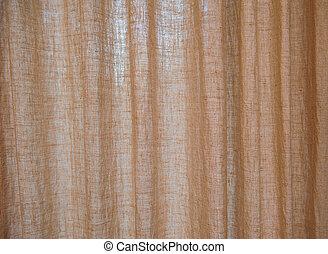 texture brown burlap curtains