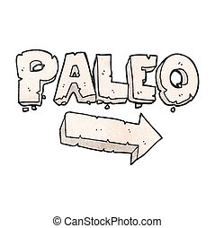 texture cartoon paleo diet pointing arrow - freehand drawn...