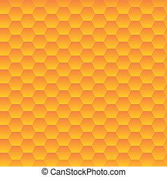 texture., cellules, vecteur, hexagonal, seamless